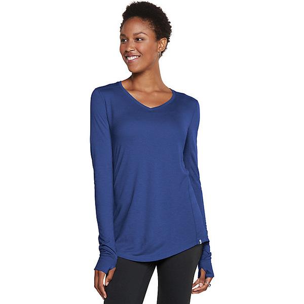 トードアンドコー レディース シャツ トップス Toad & Co Women's Aria Vee LS Top Mariner Blue