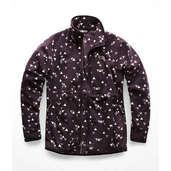 ノースフェイス レディース ジャケット&ブルゾン アウター The North Face Women's Glacier Alpine Full Zip Jacket Galaxy Purple Sparse Triangle Print