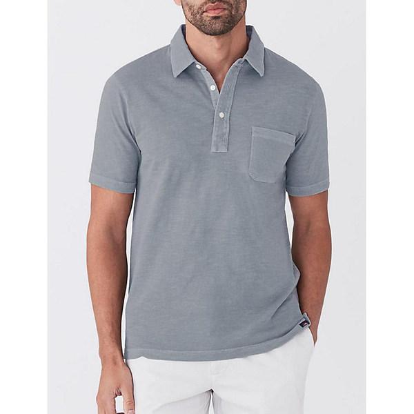 ファエティ メンズ シャツ トップス Faherty Sunwashed Polo Shirt Storm Blue