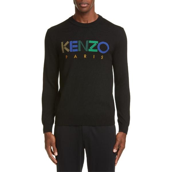 ケンゾー メンズ ニット&セーター アウター KENZO Logo Wool Sweater Black