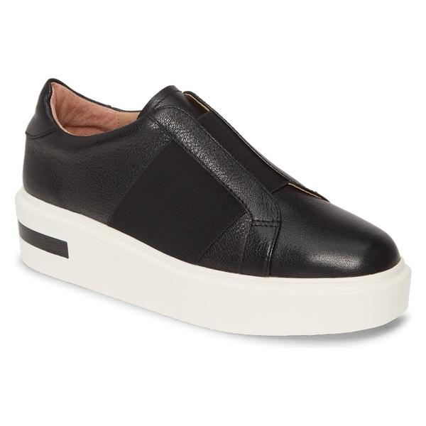 リネアパウロ レディース スニーカー シューズ Linea Paolo Kaira Platform Sneaker (Women) Black Nappa Leather