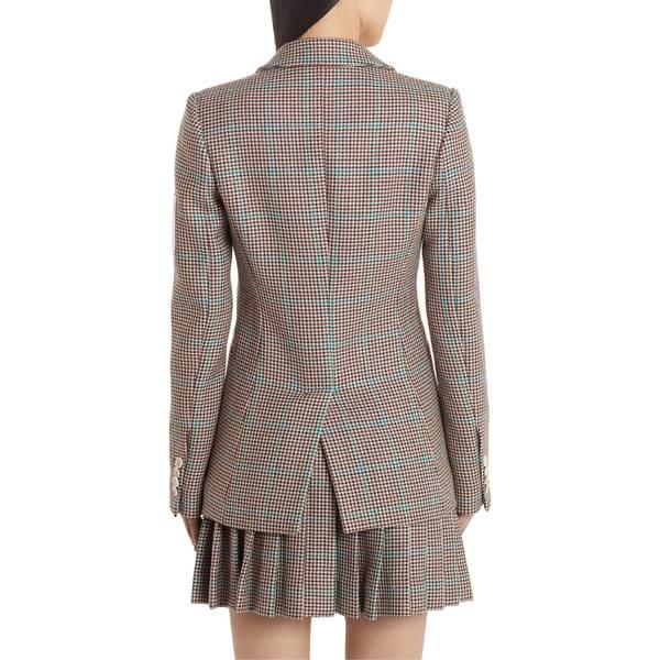 オフホワイト レディース ジャケット&ブルゾン アウター Off-White Check Slim Fit Wool Blazer All Over