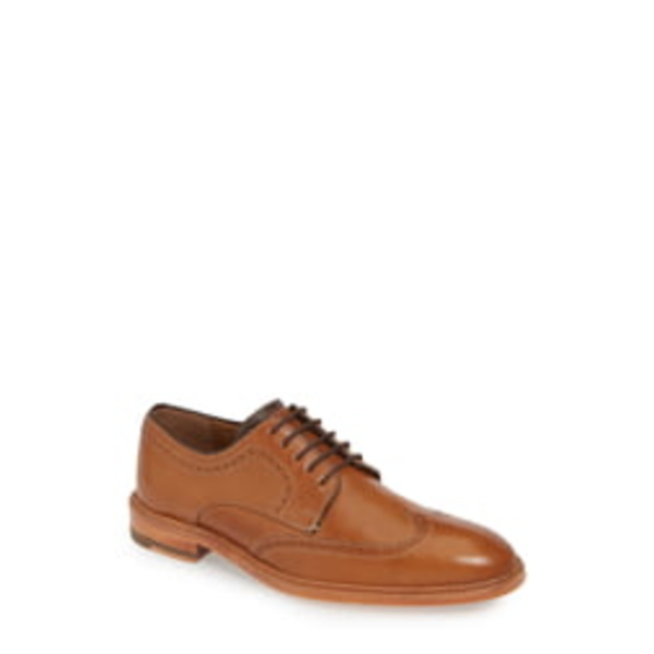 ジョンストンアンドマーフィー メンズ スリッポン・ローファー シューズ J&M 1850 Campbell Wingtip Tan Leather