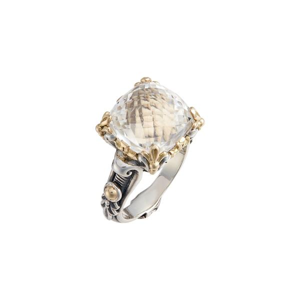 コンスタンティーノ レディース リング アクセサリー Pythia Square Crystal Ring Silver/ Crystal