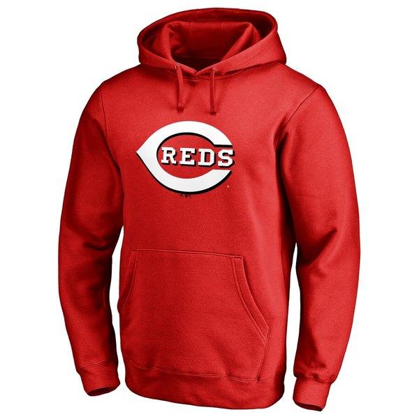 ファナティクス メンズ パーカー・スウェットシャツ アウター Cincinnati Reds Team Color Primary Logo Pullover Hoodie Red