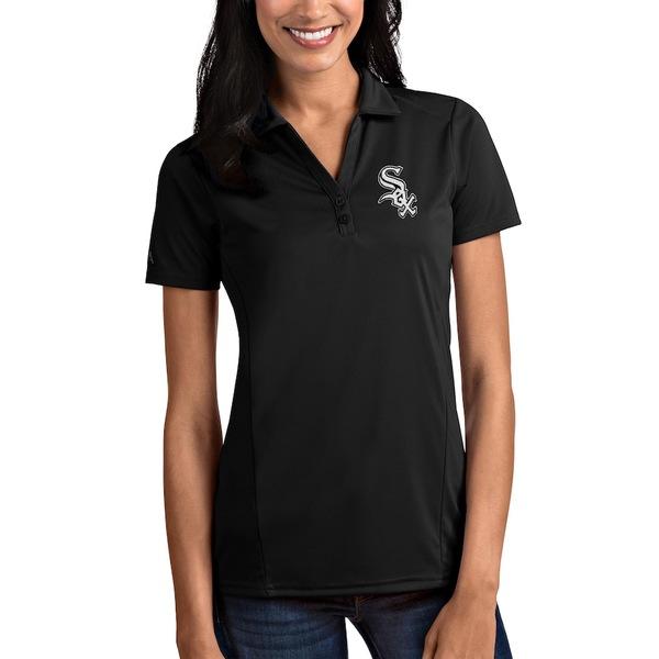 アンティグア レディース ポロシャツ トップス Chicago White Sox Antigua Women's Tribute Polo Black