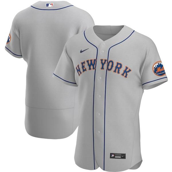 ナイキ メンズ シャツ トップス New York Mets Nike Road 2020 Authentic Team Jersey Gray