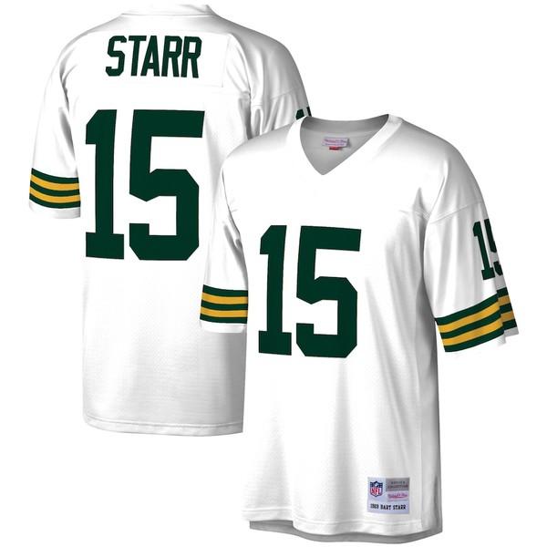 ミッチェル&ネス メンズ シャツ トップス Bart Starr Green Bay Packers Mitchell & Ness Legacy Replica Jersey White