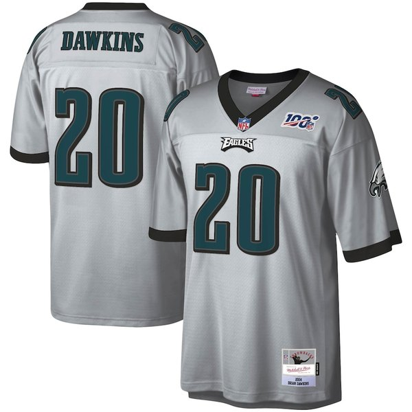 ミッチェル&ネス メンズ シャツ トップス Brian Dawkins Philadelphia Eagles Mitchell & Ness NFL 100 Retired Player Legacy Jersey Platinum