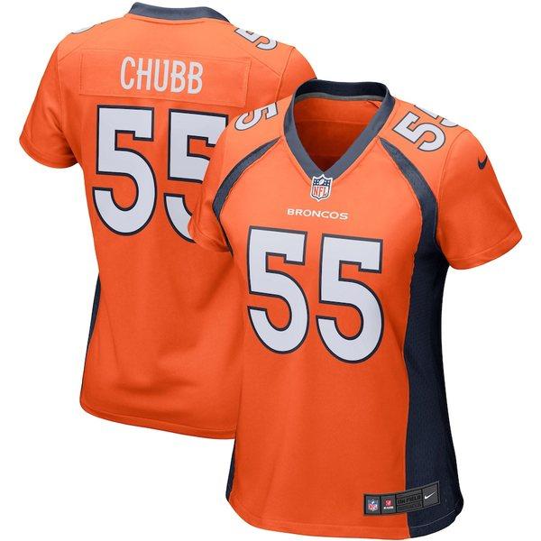 ナイキ レディース シャツ トップス Bradley Chubb Denver Broncos Nike Women's Game Player Jersey Orange