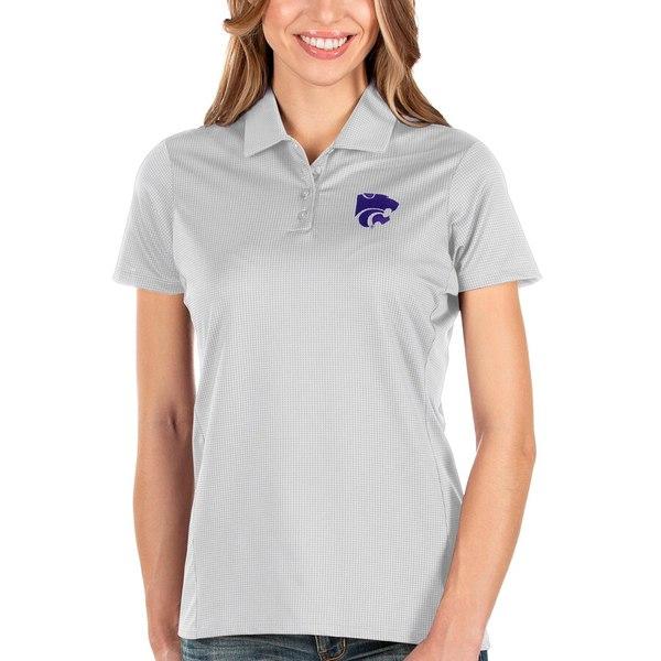 アンティグア レディース ポロシャツ トップス Kansas State Wildcats Antigua Women's Balance Polo White