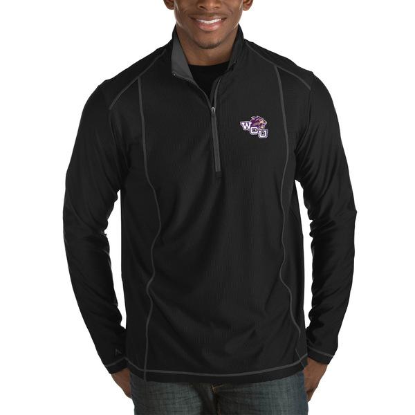 アンティグア メンズ ジャケット&ブルゾン アウター Western Carolina Catamounts Antigua Tempo HalfZip Pullover Big & Tall Jacket Black