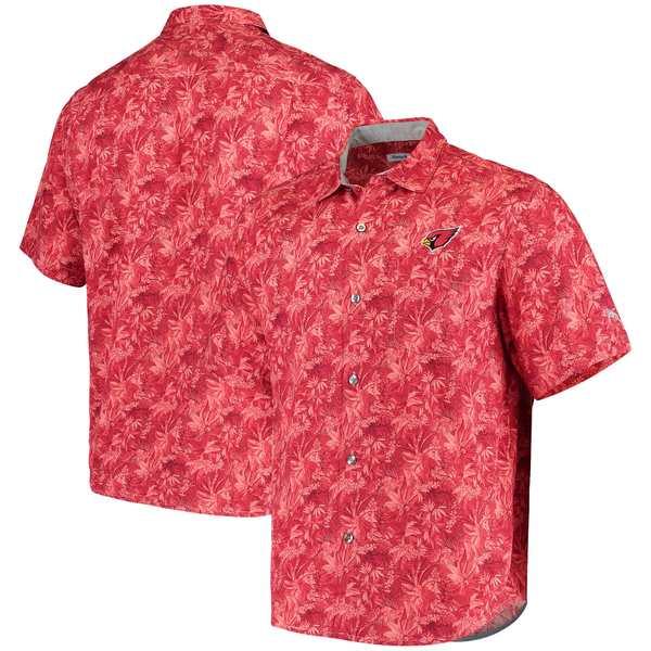 トッミーバハマ メンズ シャツ トップス Arizona Cardinals Tommy Bahama Sport Jungle Shade Camp ButtonDown Shirt Cardinal