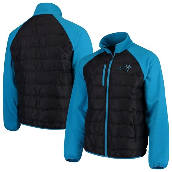 カールバンクス メンズ ジャケット&ブルゾン アウター Carolina Panthers GIII Sports by Carl Banks Reinforcer FullZip Jacket Black/Blue