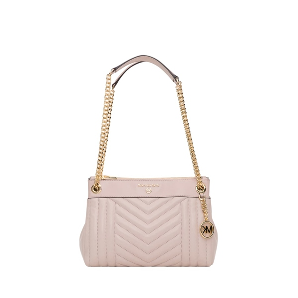 マイケルコース レディース ショルダーバッグ バッグ MICHAEL Michael Kors Susan Medium Quilted Leather Shoulder Bag Rosa