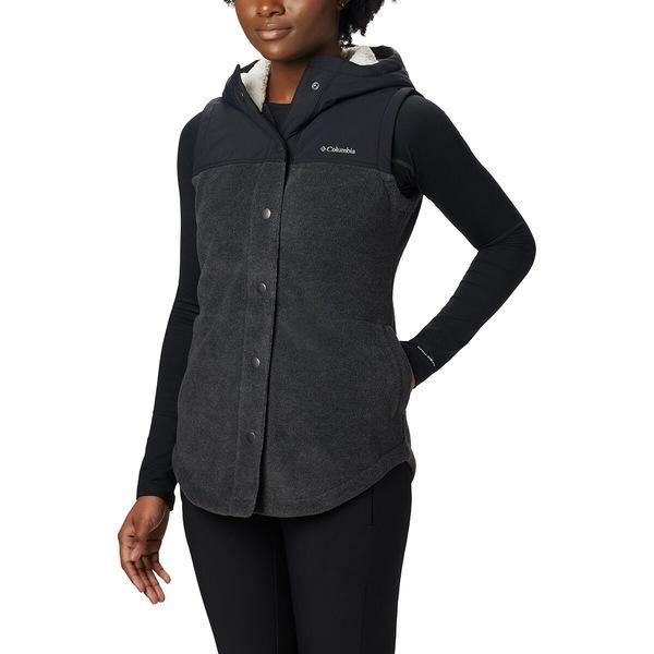 コロンビア レディース ジャケット&ブルゾン アウター Benton Springs Overlay Fleece Vest - Women's Charcoal Heather/Shark