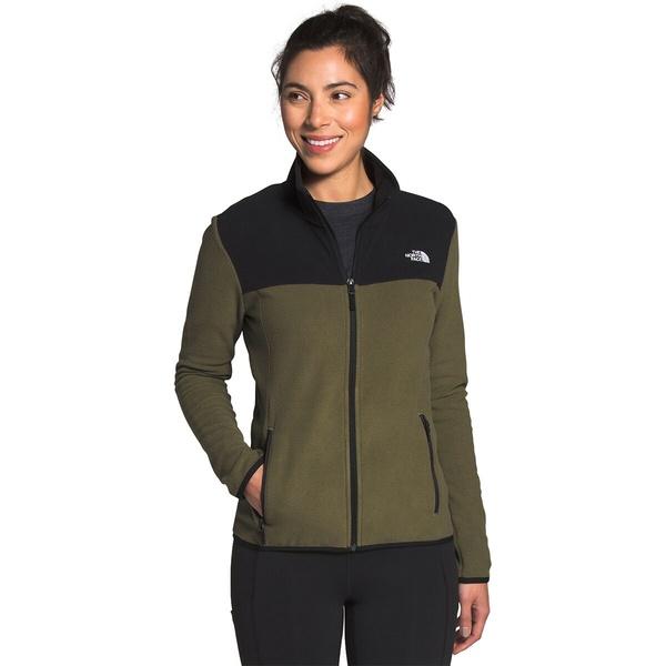 ノースフェイス レディース ジャケット&ブルゾン アウター TKA Glacier Full-Zip Fleece Jacket - Women's Burnt Olive Green/Tnf Black