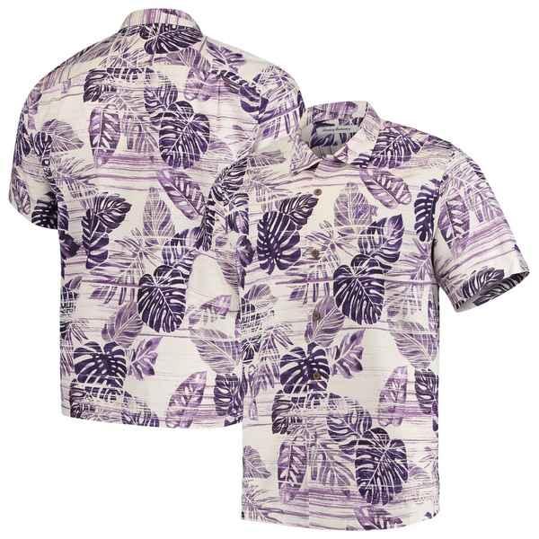 トッミーバハマ メンズ シャツ トップス TCU Horned Frogs Tommy Bahama Super Fan Camp Shirt Purple