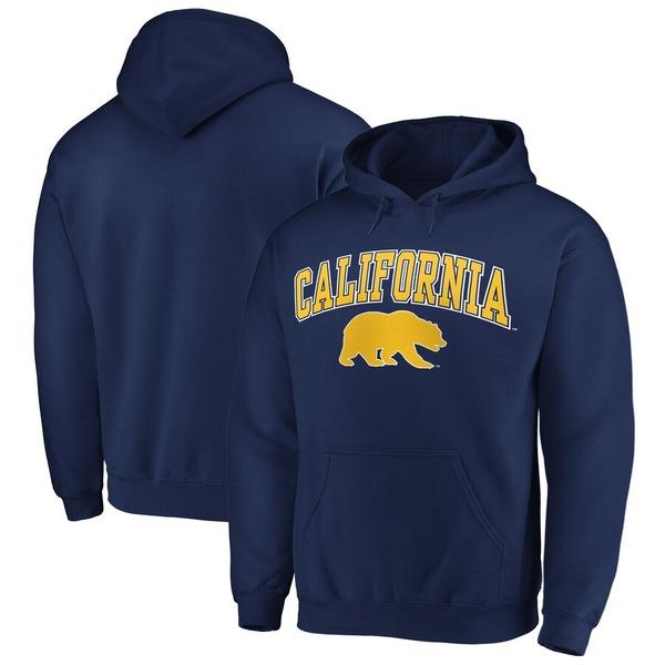 ファナティクス メンズ パーカー・スウェットシャツ アウター Fanatics Branded Cal Bears Campus Pullover Hoodie Navy