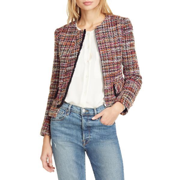 ヘレンベーマン レディース ジャケット&ブルゾン アウター Judy Crop Tweed Jacket Pink/ Orange