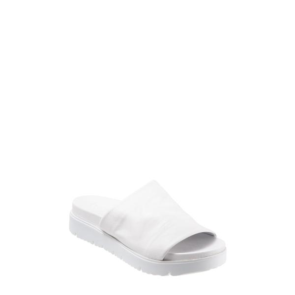 ブエノ レディース サンダル シューズ Splash Slide Sandal White Leather
