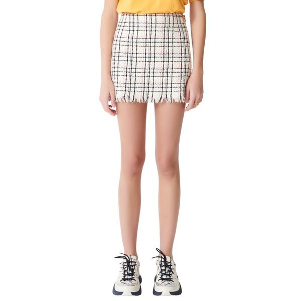 マージュ レディース スカート ボトムス Jianey Tweed Miniskirt Ecru