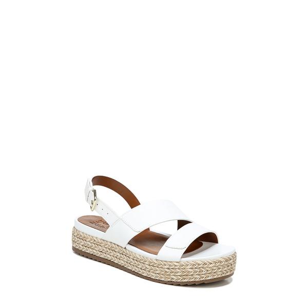 ナチュライザー レディース サンダル シューズ Jasmin Platform Espadrille Sandal White Leather
