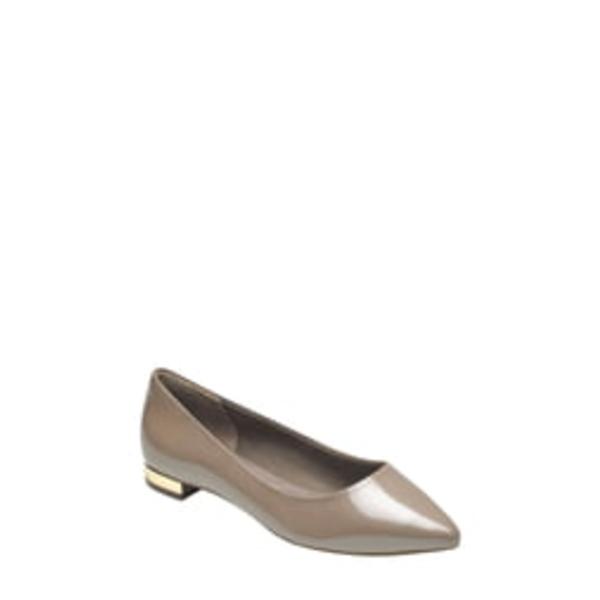 ロックポート レディース サンダル シューズ 'Total Motion - Adelyn' Ballet Flat Taupe Grey Pearl Patent