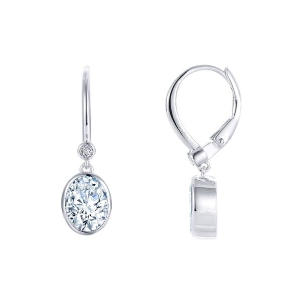 ラフォン レディース ピアス&イヤリング アクセサリー Simulated Diamond Drop Earrings Silver/ Clear