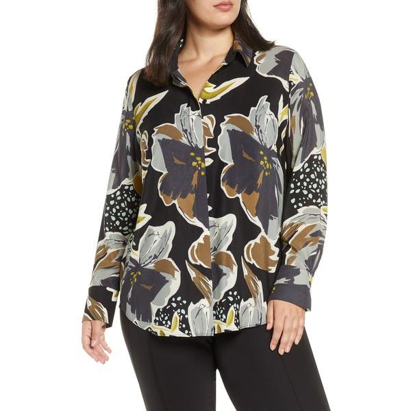 ラファイエットワンフォーエイト レディース シャツ トップス Scottie Floral Silk Blouse Black Multi