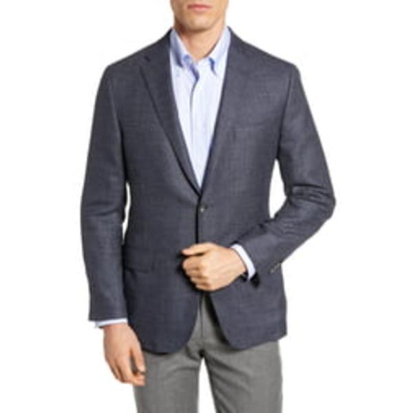 ヒッキーフリーマン メンズ ジャケット&ブルゾン アウター Classic Fit Wool & Silk Blazer Medium Blue