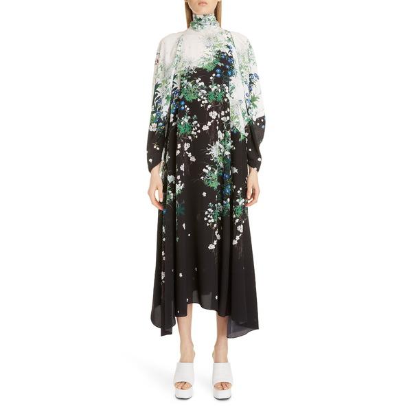 ジバンシー レディース ワンピース トップス Floral Print Long Sleeve Crepe Midi Dress Multicolored