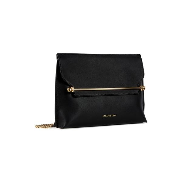 ストラスベリー レディース ショルダーバッグ バッグ East/West Stylist Leather Shoulder Bag Black