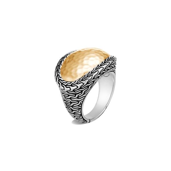 ジョン・ハーディー レディース リング アクセサリー Classic Chain Hammered Ring Gold/ Silver