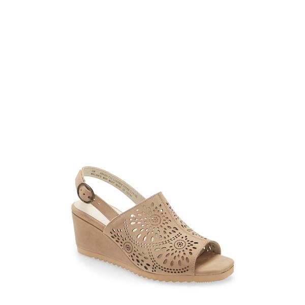 ダイビッドテイト レディース サンダル シューズ Smashing Wedge Sandal Taupe Nubuck Leather