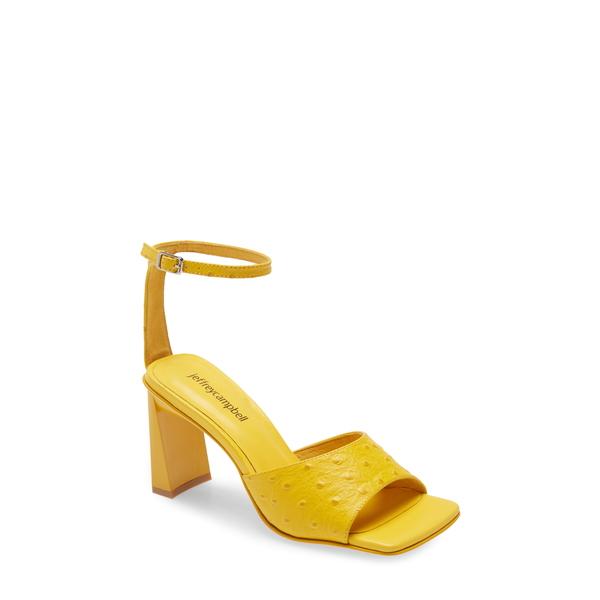 ジェフリー キャンベル レディース サンダル シューズ Zebulon Sandal Yellow Ostrich Leather