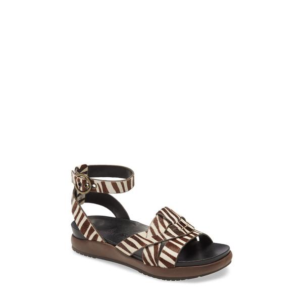 ネイキッドフィート レディース サンダル シューズ Limon Ankle Strap Sandal White/ Black Calf-Hair