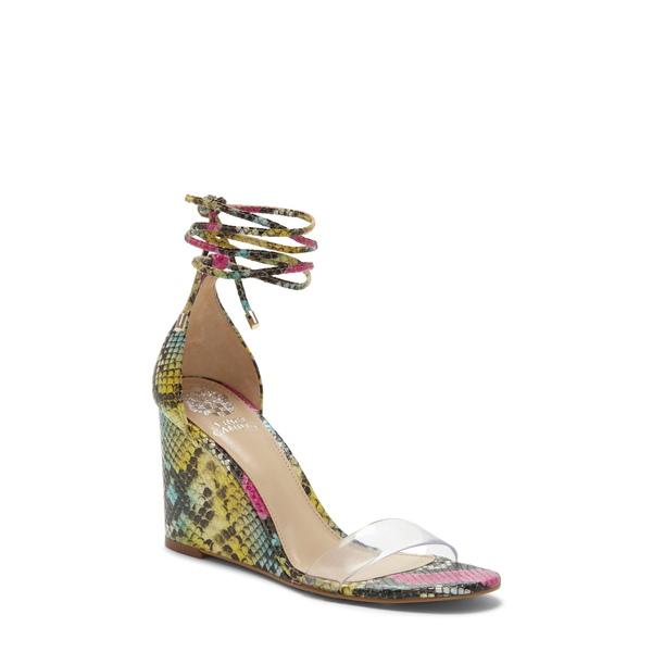 ヴィンスカムート レディース サンダル シューズ Stassia Wraparound Wedge Sandal Multi Snake Print Leather
