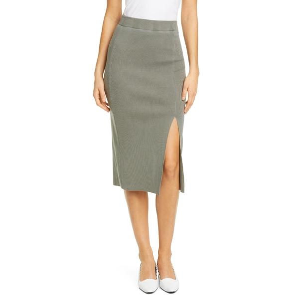 エヌエスエフ クロージング レディース スカート ボトムス Arizia Side Slit Ribbed Skirt Pigment Cargo
