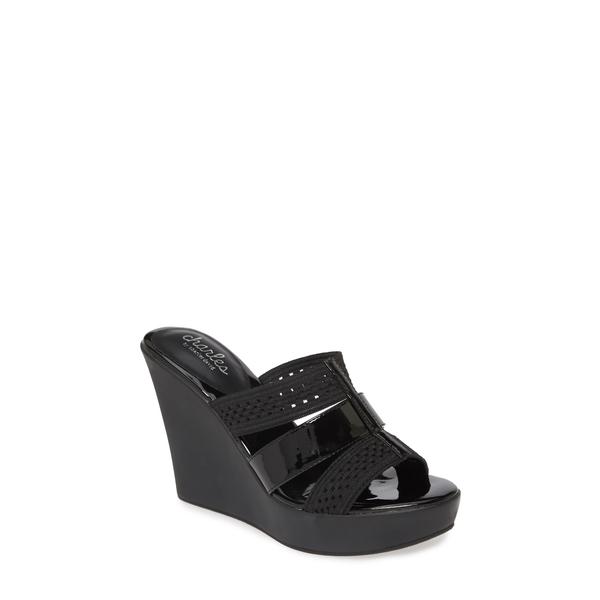 チャールズ・デイビッド レディース サンダル シューズ Pure Wedge Sandal Black Patent