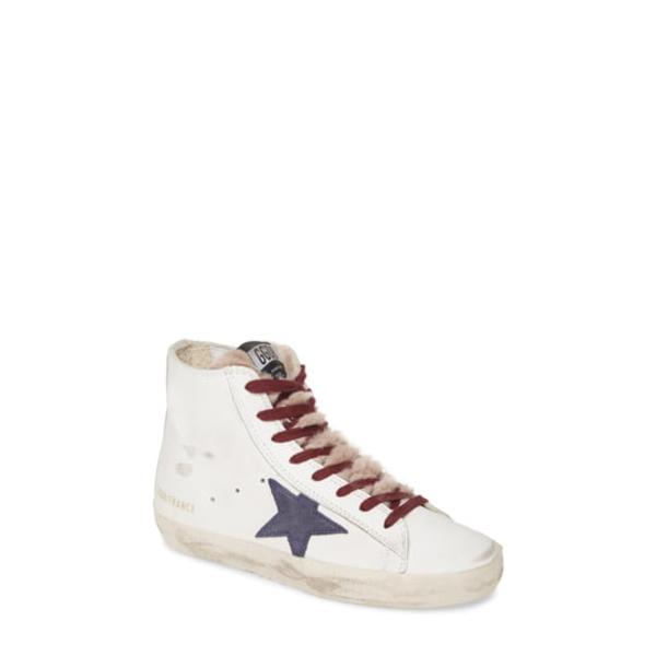 ゴールデングース レディース スニーカー シューズ Francy Faux Fur High Top Sneaker White/ Navy