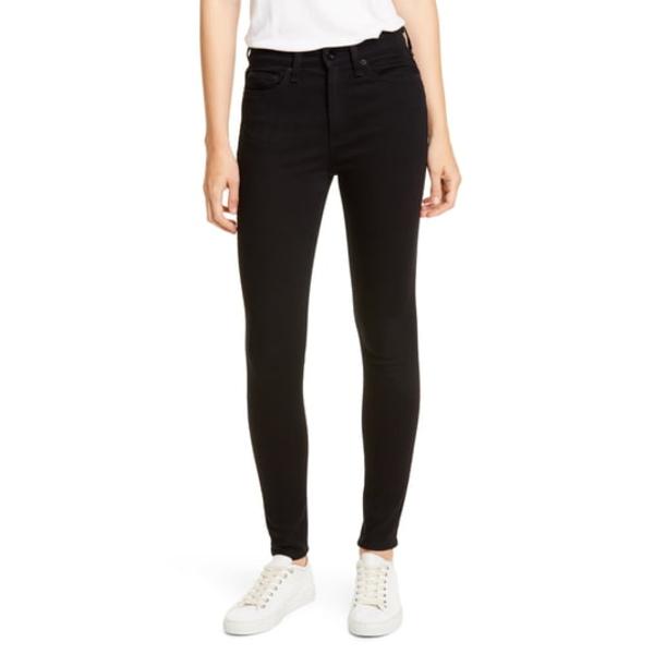 ラグアンドボーン レディース デニムパンツ ボトムス Nina High Waist Ankle Skinny Jeans No Fade Black