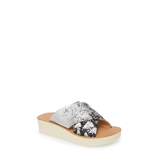 オルカイ レディース サンダル シューズ 'Onohi Platform Slide Sandal Black/ Silver Leather