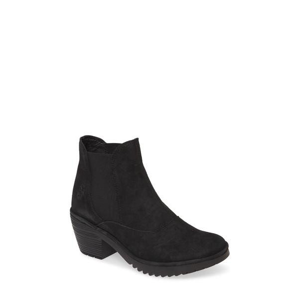 フライロンドン レディース ブーツ&レインブーツ シューズ Wote Chelsea Boot Black Leather