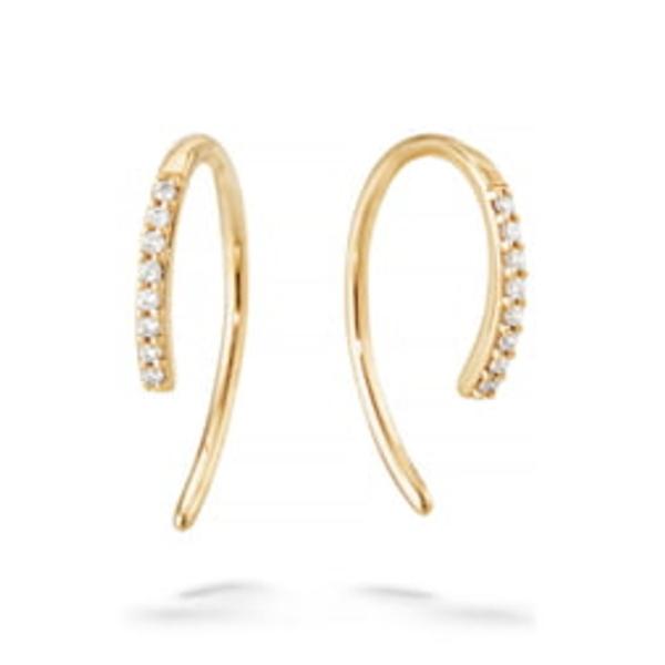 ラナ レディース ピアス&イヤリング アクセサリー Hooked On Diamond Hoop Earrings Yellow Gold クリスマス会 売れ筋商品 敬老の日 ギフトラッピング