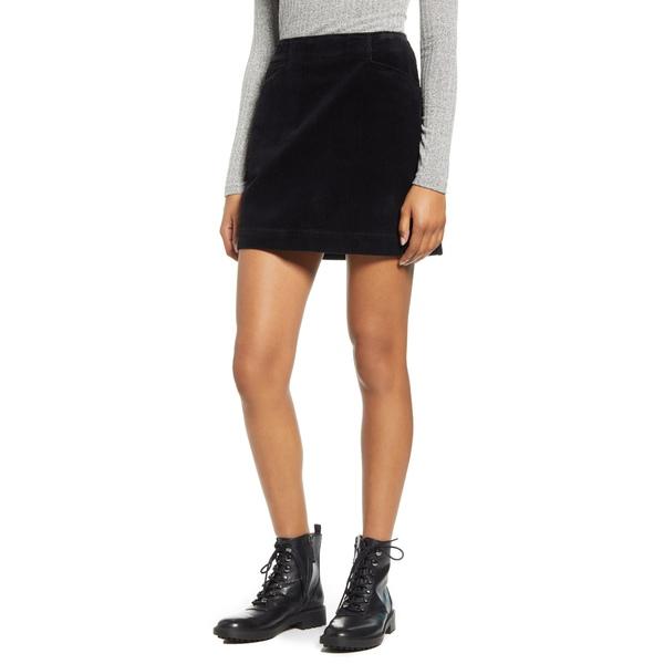 エージー レディース スカート ボトムス Bernadette Corduroy Miniskirt Super Black