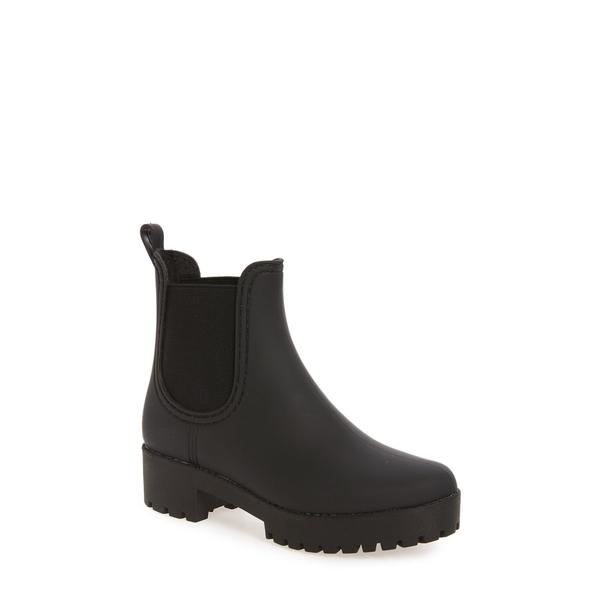 ジェフリー キャンベル レディース ブーツ&レインブーツ シューズ Cloudy Waterproof Chelsea Rain Boot Black Matte Black
