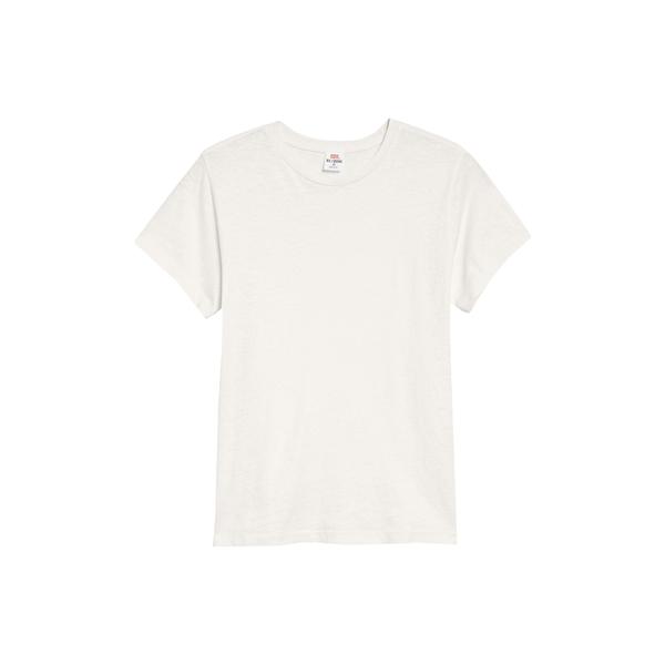 リダン レディース Tシャツ トップス x Hanes The Classic Tee Vintage White