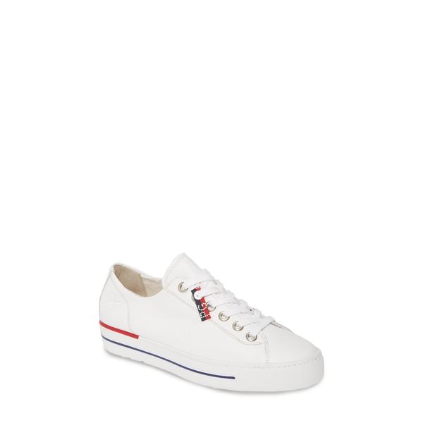 ポール・グリーン レディース スニーカー シューズ Carly Low Top Sneaker White Leather