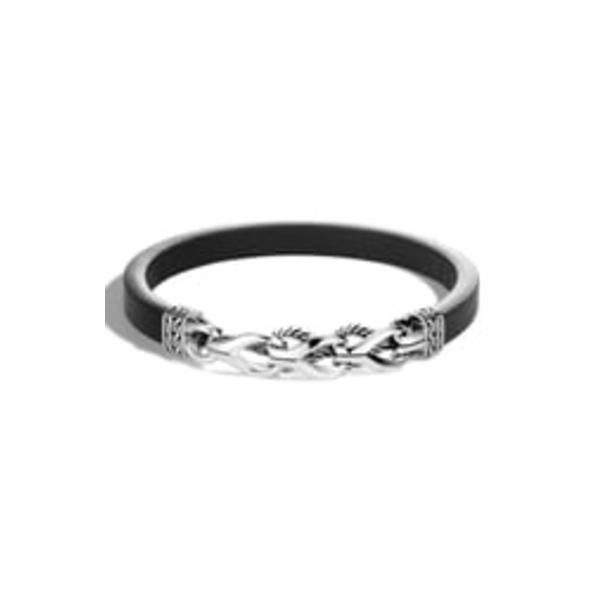 ジョン・ハーディー メンズ ブレスレット・バングル・アンクレット アクセサリー Men's Asli Classic Chain Link Bracelet Silver/ Leather